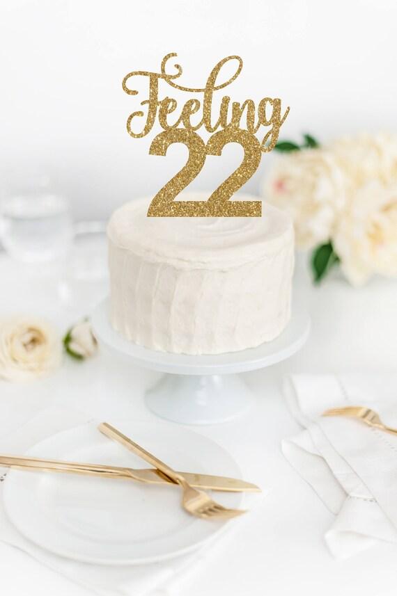Feeling 22 Cake Topper Feeling 22 Decor Tswift Birthday