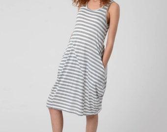 White Lycra Tank Dress