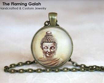 THAI BUDDHA Pendant • Buddha Art • Buddha Face • Buddhist Jewellery • Buddhism • Necklace • Gift Under 20 • Made in Australia (P1536)