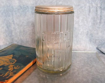 Hoosier Ribbed Coffee Canister Jar