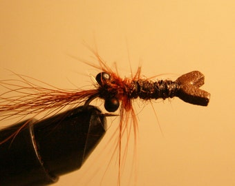 Bass Fishing - Trout Season - Made in Michigan - Fly Fishing - Crayfish Fishing Lures - Brown Crayfish on Number 10 Hook