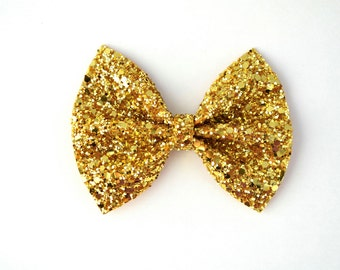 Gold Glitter Bow Photo Prop Pictures Headband for Newborn Baby Little Girl Child Adult Spring Summer Valentines Easter Clip