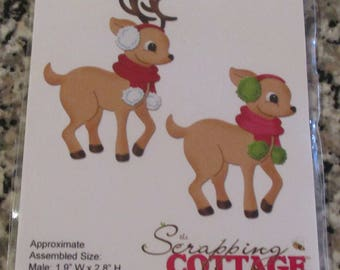 Cottage Cutz, Reindeer Boy/Girl Die