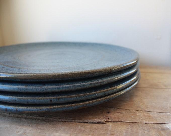 Dinner Plate  - Smoke Blue - Made to Order - Plates - Dinnerware - Dinner Plates - Handmade - KJ Pottery