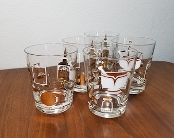 Set of 5 Norma Jean Wright for Boyle Design RX Drinking Glasses