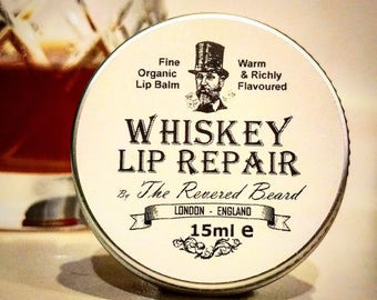 Whiskey flavoured Lip Repair by Revered Beard. Premium quality men's lip Balm