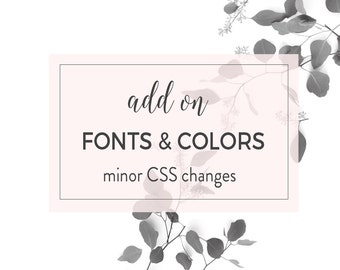 Add on - Change Fonts and / or Colors