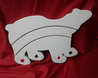 Polar bear card holder