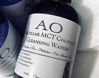 Micellar MCT Coconut Cleansing Waters. Flawless Finish Makeup Remover