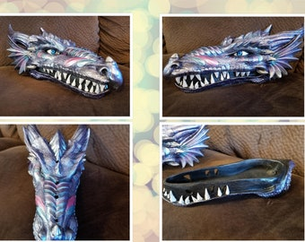 XL Hand Painted Dragon Incense Holder