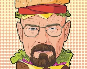 Breaking Bad Heisenburger A4 Print