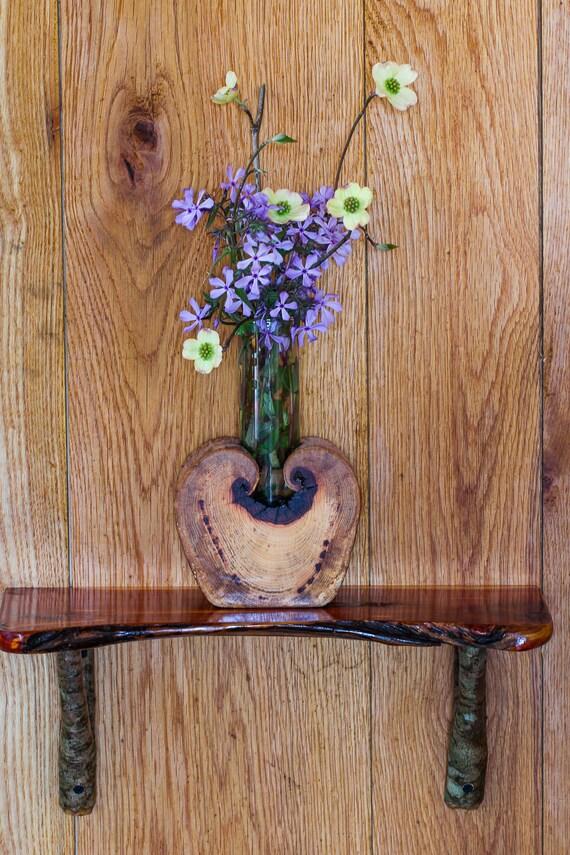 Wooden Flower Vase Rustic Flower Vase