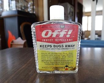 Vintage, OFF Insect Bottle, Small Apothecary Bottle, Antique bottle, Glass Bottles, Rustic Farmhouse, Pharmacy Bottle, Medicine Bottle, Gift