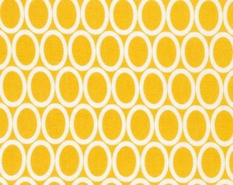 Yellow Oval Circle  Cotton Fabric -Remix -  Robert Kaufman Fabrics