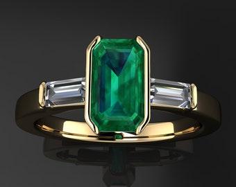 Private Listing for Liz - alex ring - .91 carat tsavorite garnet engagement ring, bezel set engagement ring
