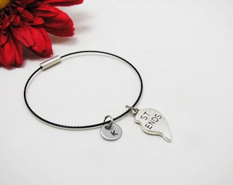 Best Friends Bracelet - Best Friends Bangle - Initial Charm - Best Friends Jewelry - Initial Bracelet - Custom Bracelet - Friendship Charm