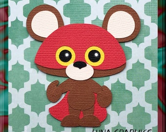 The BOO ZOO BEAR Embellishment Paper Piecing card making and scrapbooking