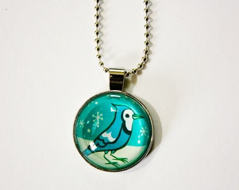 Mother gift - BLUE JAY bird necklace, mothers day gift, bird jewelry, bird gifts for mom, gift for bird lovers, bird watcher gift, bluejay