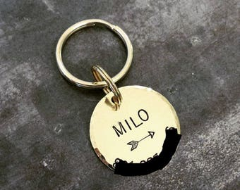 Custom Pet ID Tag - The Rocco - Copper or Brass