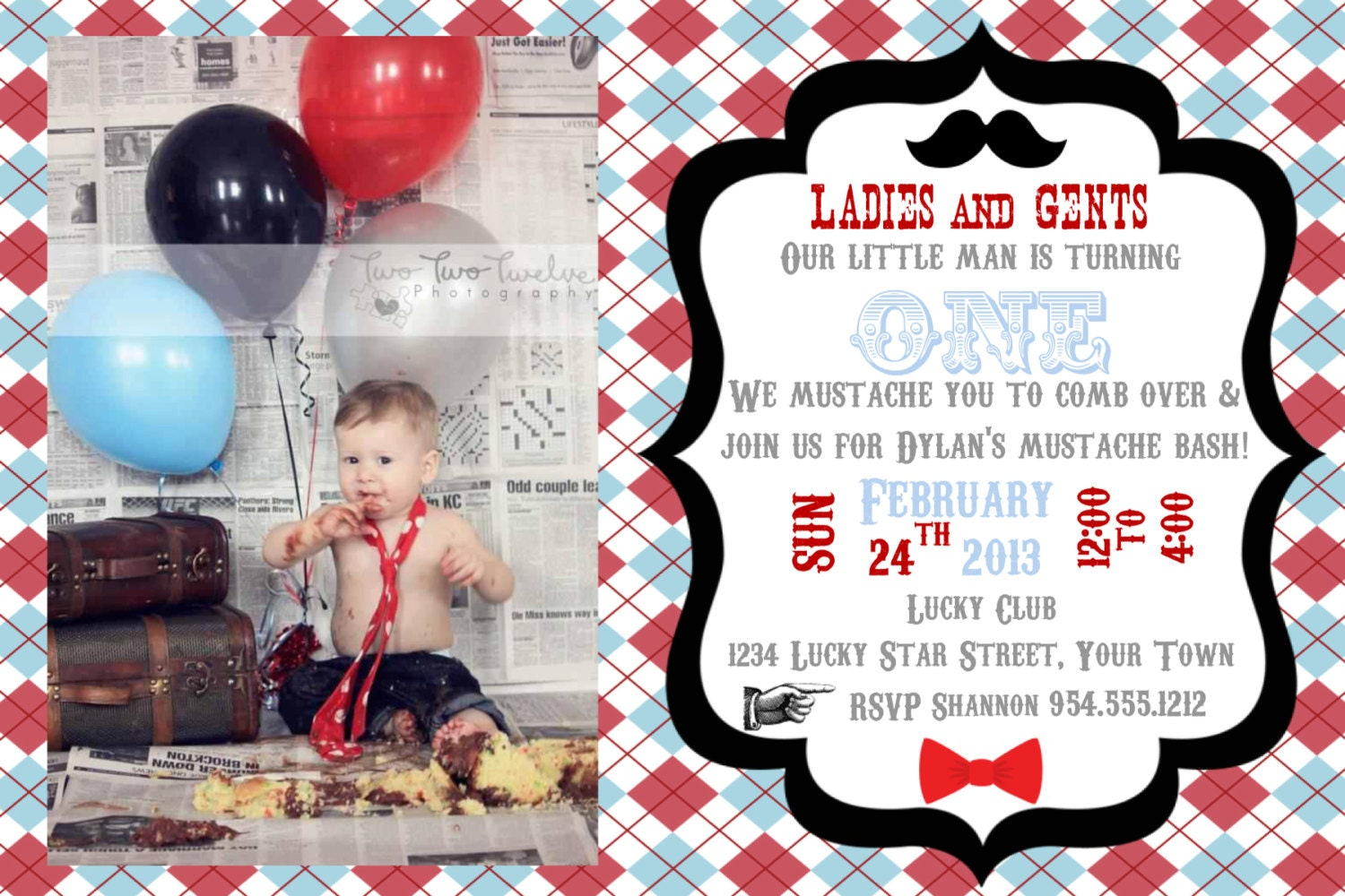 Little man mustache bash invitation template 4x6 filmwisefo Image collections