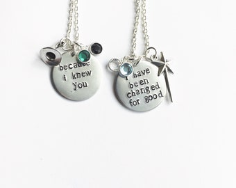 Wicked inspired hand stamped necklaces