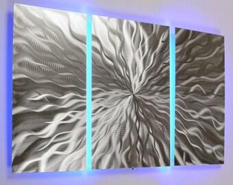 Captivating Lighted Wall Art   Metal Wall Art   Metal Wall Sculpture   Modern Wall Art