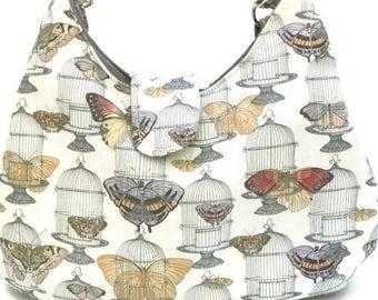 Steampunk Purse - Butterfly Purse - Cross Body Bag - Hobo Bag - Sling Bag - Cross Body Hobo Bag - Crossbody Bag - Cross Body Purse - Boho