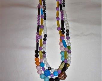 Twilight and Dusk - Vintage Plastic Mardi Gras Beads - Lot I