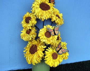 Primitive Pattern, Pdf Pattern, Sunflower, Butterfly, Primitive Sunflower