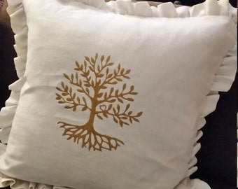 """Cushion """"Tree of life"""""""