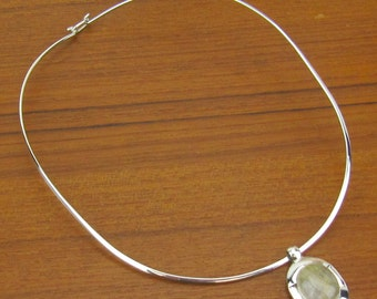 Sterling Silver white stone Necklace vintage Mexico Mexican collar jewelry 925 1980s
