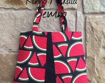 Summer Picnic - Watermelon Slices Tote Bag / Handbag