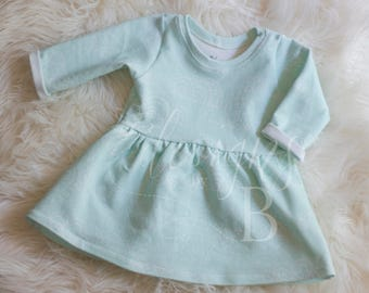 Mint Clouds Twirl Dress 3-6m