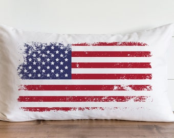 Distressed US Flag_Color 20 x 20 Pillow Cover // Summer // Everyday // 4th of July // Independence Day // Patriotic // Gift // Accent Pillow