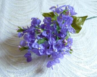 Silk flowers etsy sale vintage lilacs nos lavender purple silk flowers for hats weddings corsage bridal bouquet crafts floral arrangements 2fv0062pu mightylinksfo