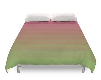 Gradient Duvet Cover, 4 Color Options, Twin Duvet, Full Duvet, Queen Duvet, King Duvet, Modern Bedding, Colored Duvets, Pink, Green, Orange