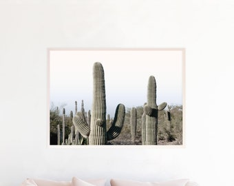 Desert Decor, Desert Art, Desert Photograpy, Desert Wall Art, Desert Print Download Desert Printable Art Saguaro Cactus Pastel Sunset sc1cl
