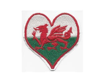 WELSH FLAG Raggy Patch