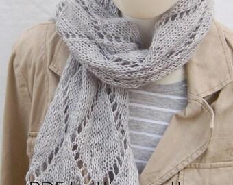 Lace scarf knitting pattern, Lace shawl pattern, knit scarf, knitting pattern, knitting pattern ladies, knitting pattern for women