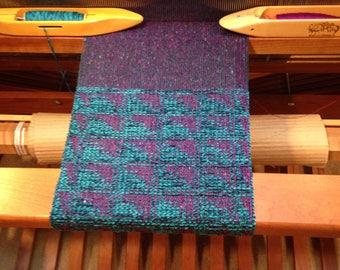 Scarf, Handwoven Chenille, Wool & Silk