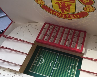 Manchester United 3D pop-up  stadium greeting card