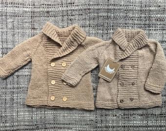 0-6 months Alpaca Coat, Knitted Coat, Baby Coat, sweater, baby sweater