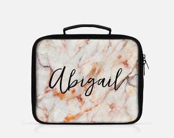 Marble Lunch Box, Custom Lunch Box, Personalized Lunch Box, Lunch Box Marble, Lunch Bag Insulated, Reusable Lunch Box