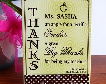 Best Teacher Gifts  -  Gift for Teachers Appreciation Week from Student - Parents - Plaque