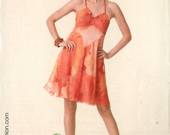 PATTERN BURDA short dress with straps