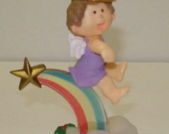 HTF 1983 Rainbow Angel Hallmark Ornament  FREE ShiP USA