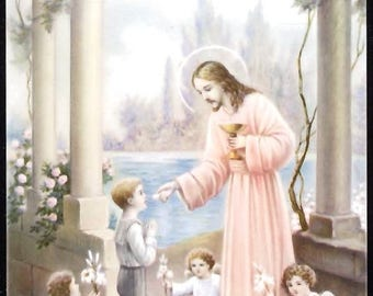 Boy's First Communion Holy Cards - Printed in Germany ~ In Mint Condition (Priced Per Card)