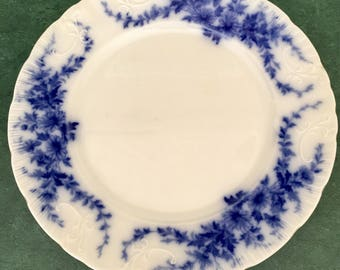 Gorgeous Flow Blue Floral Plate