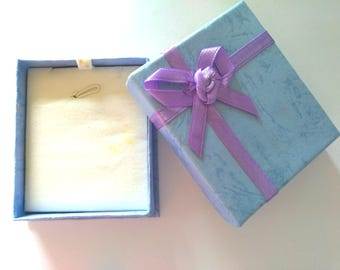 5pc BLUE color Necklace paper gift boxes