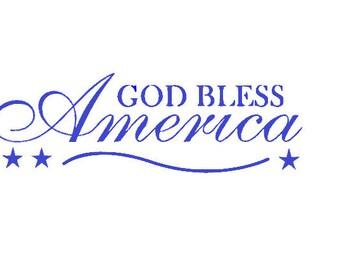 God Bless America - Vinyl Wall Art